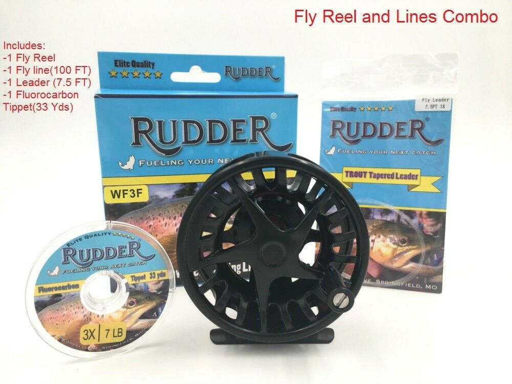 Rudder Light weight  Fly Reel Fishing Reels  5 6, 7 8 Combo Set Fly Line Leader  hot limited edition