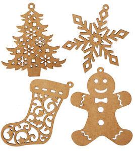 Schneeflocke-Lebkuchenmann-Stiefel-Christbaum-Anhaenger-Weihnachtsbaumschmuck