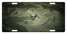 USAF Custom License Plate U.S. AIR FORCE Emblem  Camouflage  Version