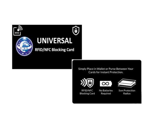RFID Blocking Credit//Debit Card Protector NFC Contactless Signal Blocker