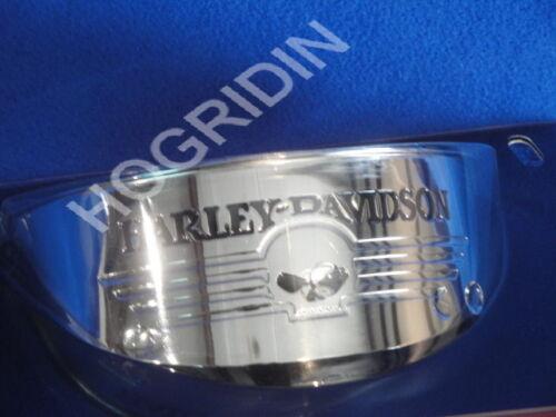 """5 3//4 /"""" Harley willie g skull headlight headlamp visor softail sportster xl dyna"""