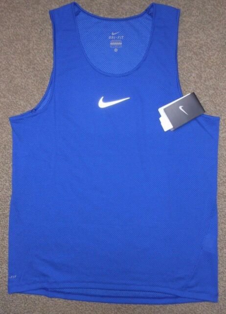6e5620e523c4 Nike sz M Men s AeroReact Running Tank Top Shirt NEW  85 920783 457 Blue