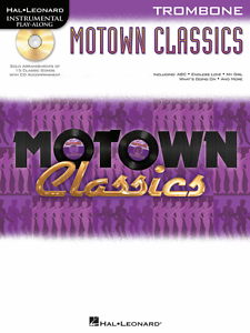 """motown Classics"" Instrumental Play-along ""trombone"" Music Book/cd-new On Sale!! Chaud Et Coupe-Vent"