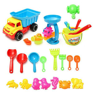 Beach-Sand-Play-Toys-Set-21pcs-set-Bucket-Rakes-Sand-Wheel-Watering-Sand-Toys-SE