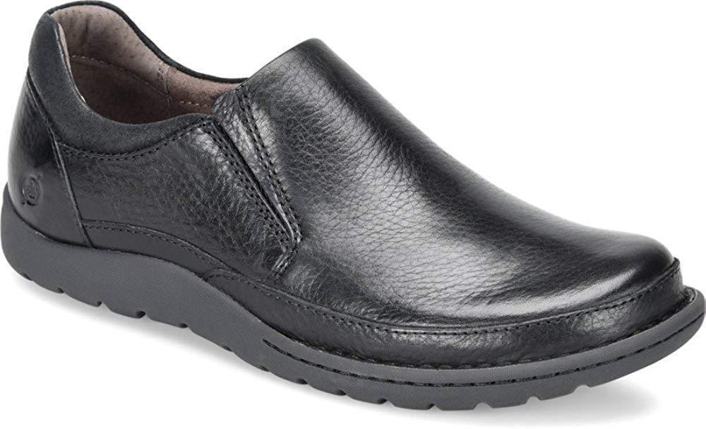 Para Hombre Zapato Puntera Slipon Born Casual Moc Nigel resbalón en Negro H48203