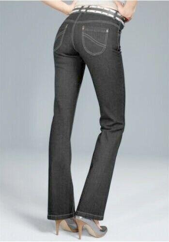 Arizona Jeans Neuf T. 34-42 Femmes Bootcut Pantalon Stretch Black Used Noir L32