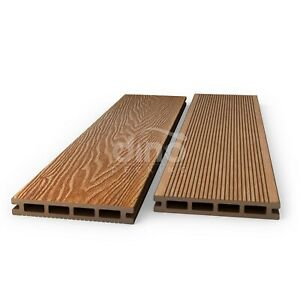Plastic Wood Composite Decking Boards Kit Garden & Facultatif Fixings-amber-afficher Le Titre D'origine