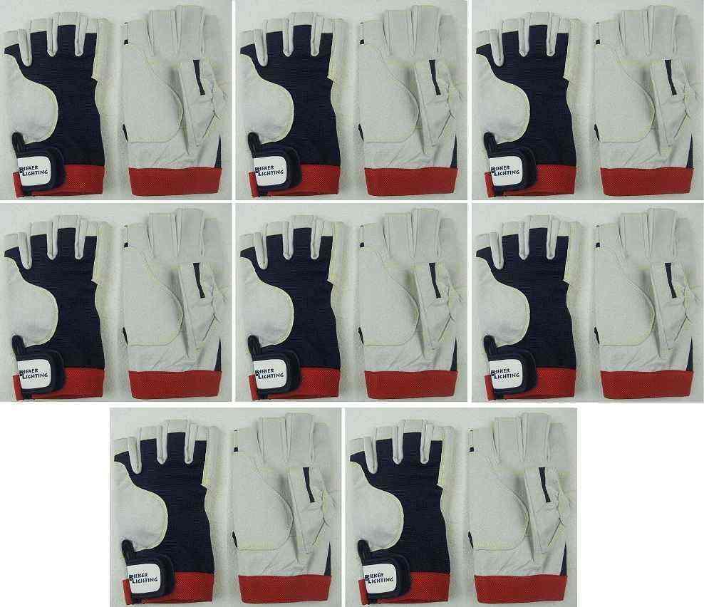 8 Paar Fahrerhandschuhe Gr. L (9) AMARA Rigginghandschuhe Mechaniker Handschuhe