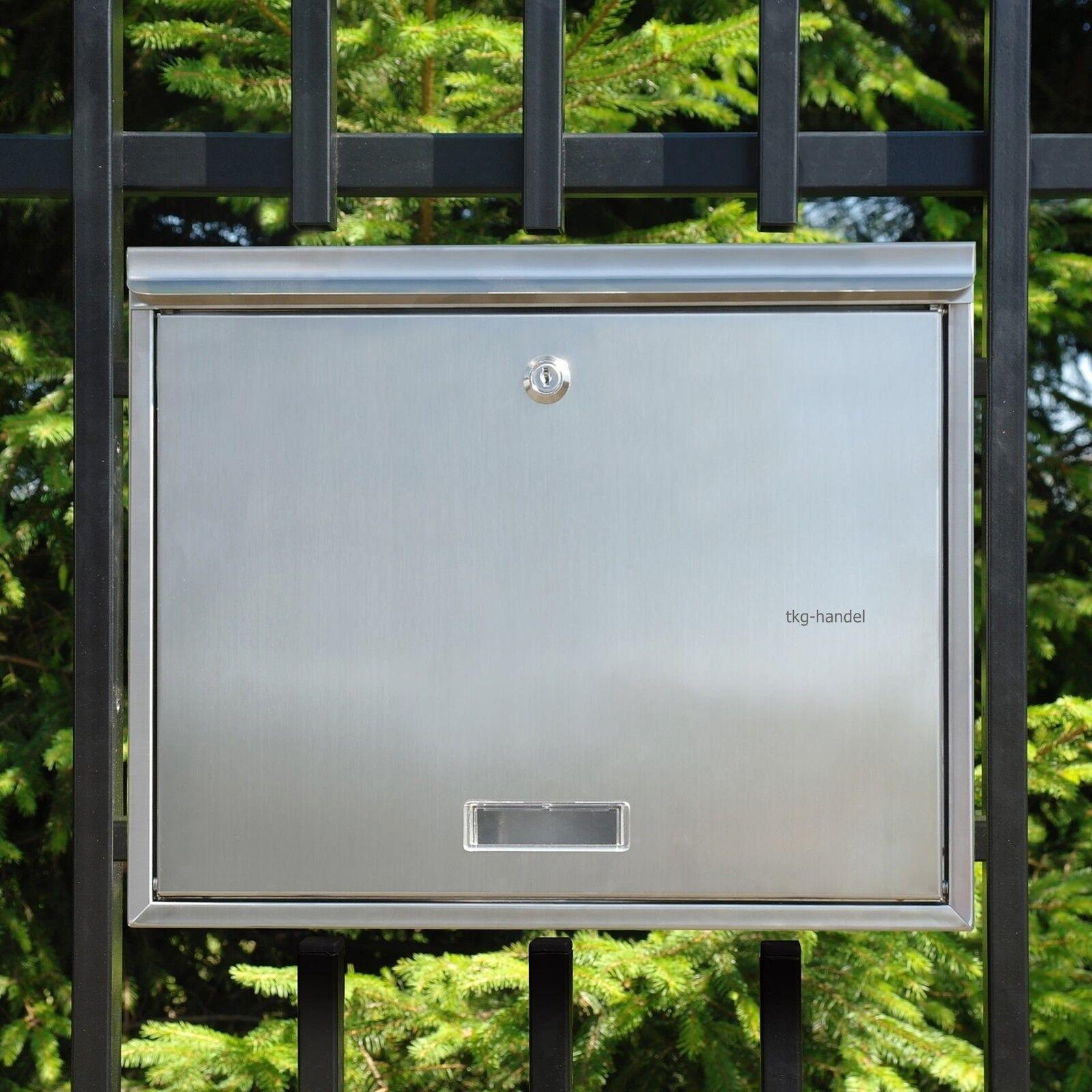 Mauerdurchwurf Briefkasten Postkasten EinbauBriefkasten Edelstahl