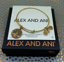Alex and Ani Russian Gold Tree of Life Charm Bangle Bracelet EXCELLENT!