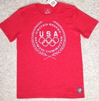 Men(sm) United States Olympic Committee T-shirt Red&white Team Usa Summer Winter