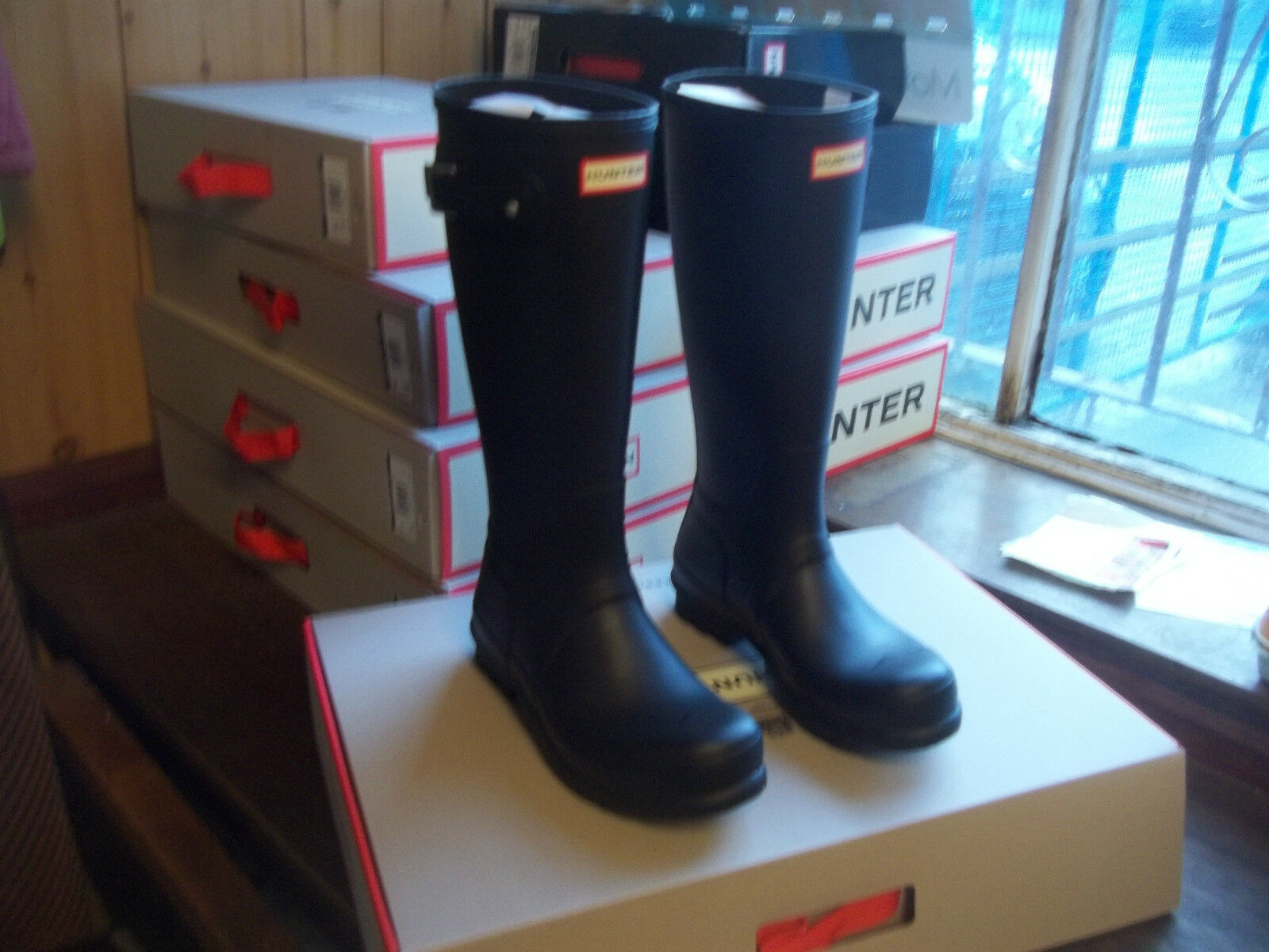 HUNTER WELLIES WELLINGTONS  IN HALIFAX BLACK SIZE  10  BLACK HALIFAX  ORIGINAL TALL  Herren 7c5a52