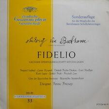 """12"""" LP Ludwig van Beethoven Fidelio Großer Querschnitt mit Dialogen (DGG)"""