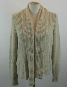 Chico-039-s-Ruched-Back-Bridgette-Cardigan-Sweater-Creamy-Sand-3-XL-NWT-99