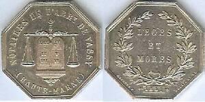 Jeton-VASSY-1851-Haute-Marne-1-silver-corne-15-grammes-d-31mm-Lerouge-415a
