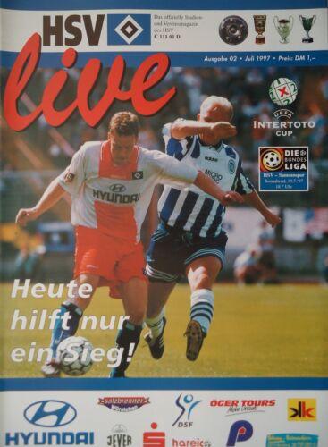 Samsunspor Programm UEFA Intertoto 1997 Hamburger SV
