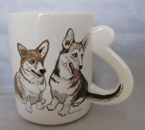 pembroke welsh corgi dog coffee cup mug by artmark 1989 ebay