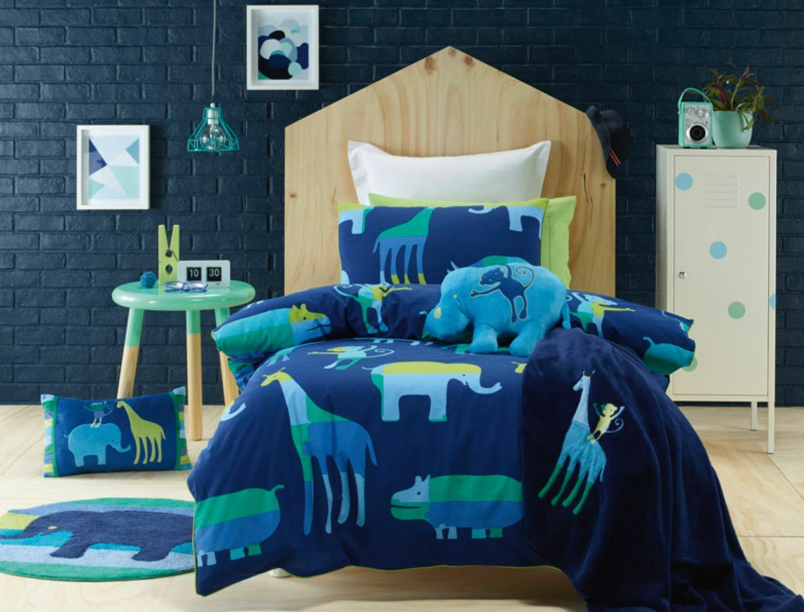 New Jiggle & Giggle Animal Patch Safari Quilt Cover Set Single Double Queen