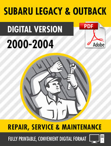 2000 2001 2002 2003 2004 subaru legacy outback factory service rh ebay com 2001 Subaru Legacy Outback 2001 Legacy Problems
