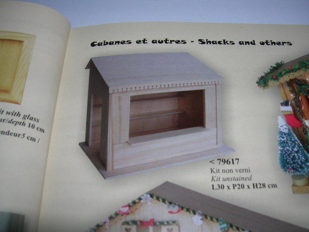 Creal Verkaufsstand Verkaufshütte Holz natur 1 1 1 12 Bausatz Model Kit Art. 79617 e18d06