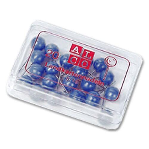 Alco Landkartennadeln 5 mm blau 100 Stück 0,03€//Stück