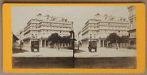 Parigi Francia La Commedia Francese Stereo Vintage Albumina Ca 1870
