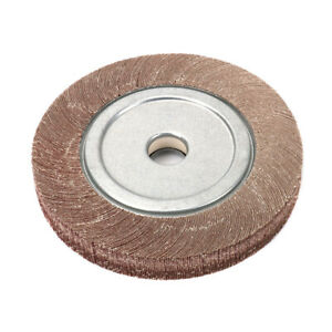"4/"" Abrasive Wire Nylon Polishing Buffing Wheel Pad 5//8/"" Bore 3//5/"" Thick 180//240#"
