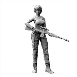 1PC-1-35-Unpainted-Resin-Figure-Model-Navy-Seals-Female-Garage-Kit-Model-So-V8L8
