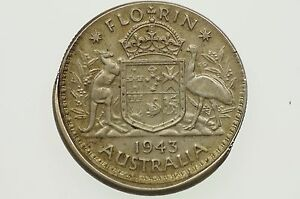 1943-Florin-Variety-Error-Mis-Strike-in-Almost-Extremely-Fine-Condition
