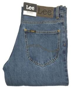 LEE-Jeans-W-42-L-32-Brooklyn-Straight-Stonewash-Blau-L8124444-100-Baumwolle