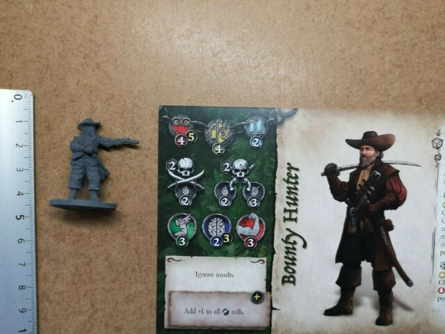 LOOKOUT LONGSHOT ENZO  MINIATURE+CARDS//SKULL TALES PIRATE GAME ECLIPSE //G206