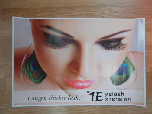 "#1 Eyelash Extension SALON POSTER WALL PHOTO 24/"" x 16/""  NEW FREE SHIP Style 2"