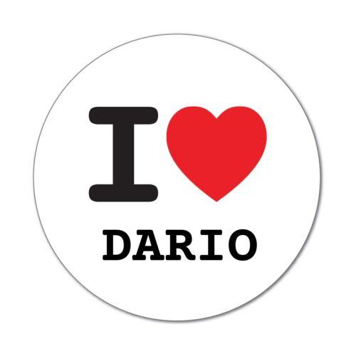 6cm I love DARIO Aufkleber Sticker Decal