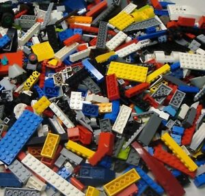 100-LEGO-Bricks-Blocks-Baseplates-Wheels-BULK-Parts-LOT