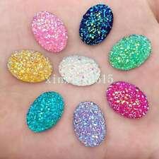 DIY 20PCS mix AB Resin 13mm*18mm Oval stones FlatBack Appliques/wedding buttons