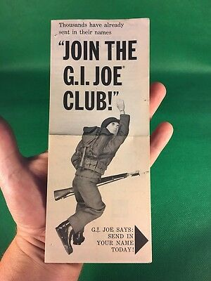 VINTAGE 1964 GI JOE ORIGINAL JOIN THE GI JOE CLUB PAMPHLET INSERT PAPERWORK