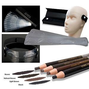 set 12 permanent makeup schablone 3 stifte. Black Bedroom Furniture Sets. Home Design Ideas