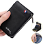 Mens-RFID-Blocking-Leather-Soft-Wallet-Credit-Card-Holder-Purse-With-Zip thumbnail 2