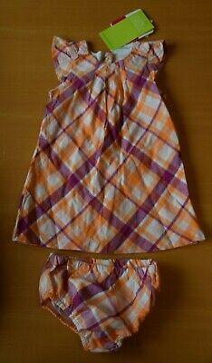 2 Teiliges Set: Kleid Und Höschen, Weiß, Pink Und Orange Gr. 68, Neu Mit Etikett