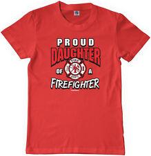 New Red amheroes original Firefighter Daughter Kids T-Shirt