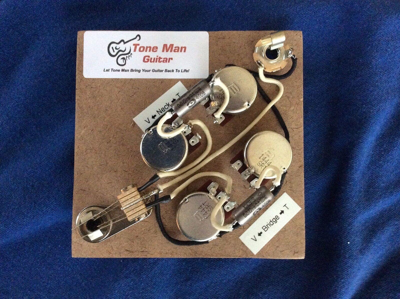 Das 59 Upgrade Prewirot Harness Kit für Gibson Epiphone SG PIO Tonkapseln Switch