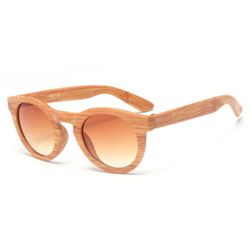 Retro Bamboo Wood Print Men/'s Women Pilot Round Sunglasses Eye Glasses Eyewear