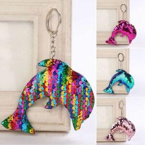 Shiny-Moda-Jewelry-Ragazza-Bambini-Regali-Dolphin-Portachiavi-Ciondolo-Bors-E6W1