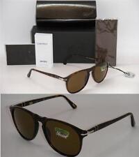 PERSOL 9649  Sunglasses Havana Frame Brown Polarized PO 9649-S 24/57 55mm New