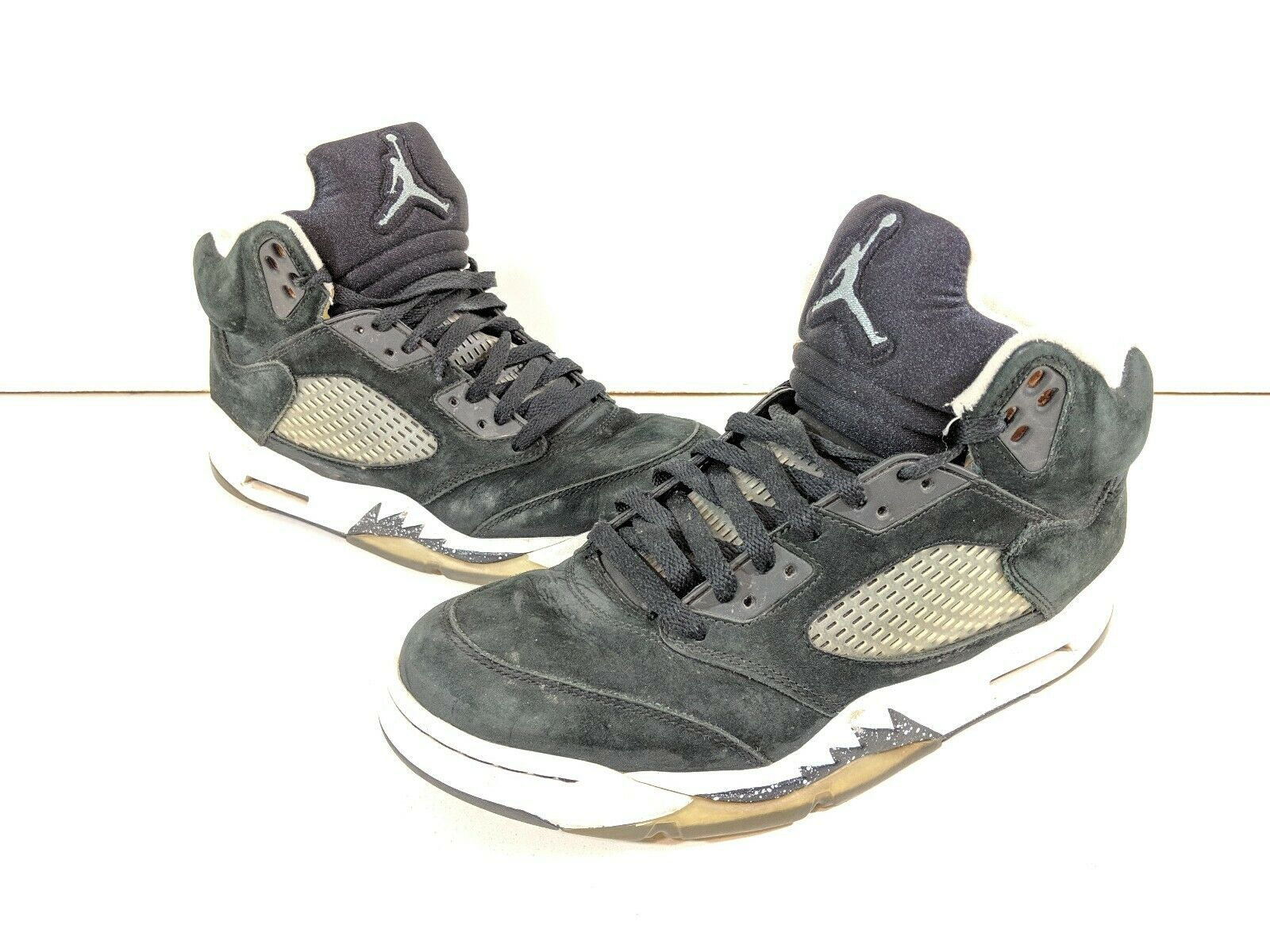 2013 Nike Air Jordan 5 Retro  Oreo  Blk Cool Grey Wht Sz 9 136027-035