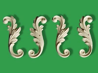 Shabby Furniture Onlay Craft Moulding Applique Chic Small Leaf Scroll Baroque