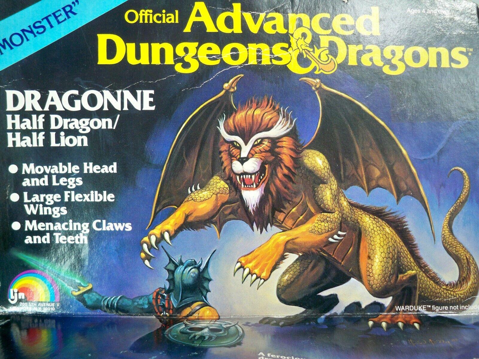 K199334 Dragonne casi nuevo y sin usar en caja sin usar, en Caja Advanced Dungeons & Dragons Ljn Vintage