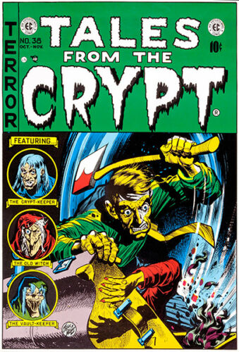 October November 1950 Comic Book Cover Poster Tales From The Crypt