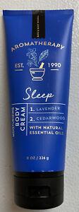 Bath-amp-Body-Works-Aromatherapy-Sleep-Lavender-Cedarwood-Body-Cream-8oz-Used-80