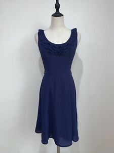 REVIEW-Size-6-Purple-Sleeveless-Dress-As-New